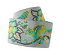 "Mint and Gold on Grey Chipmunk ribbon Tula Pink - 1-1/2""- by the yard"