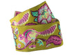 "Pink and Blue on Green Chipmunk ribbon-Tula Pink - 1-1/2""- by the yard"