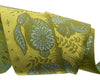 "Animal Grandstand Yellow and green- - 1-1/2""- by the yard"