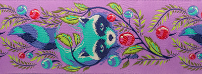 "Raccoon Fuchsia by Tula Pink - 2"" - by the yard"