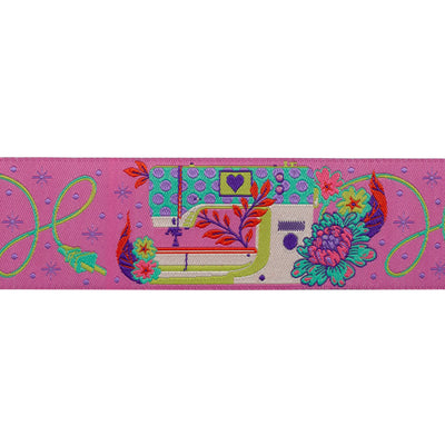 "Pedal to the Metal, Evening Pink-Tula Pink-1-1/2""-by the yd"