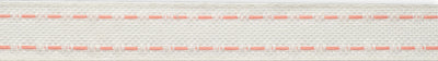 Pink saddle stitch on candlelight linen-2 rows