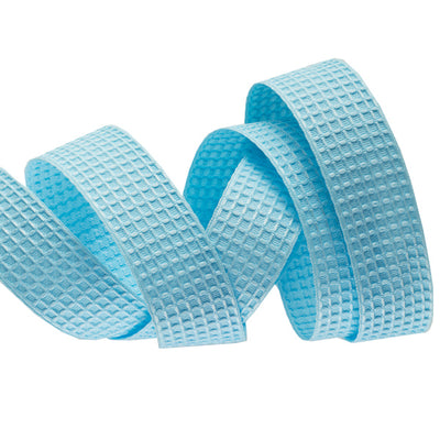 Cotton Baby Blue Waffle Weave