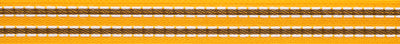 Yellow & white double row tiny woven Stitches
