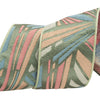 Pastel Deco rays pink, peach, blue and white on green - by 1/2 yd
