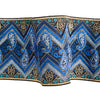 Mughal brocade in rich blues with gold accents - by 1/2 yd