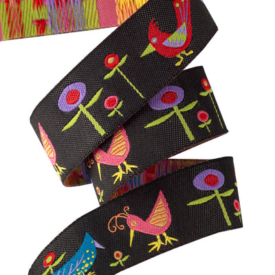 "Birds & Flowers - 7/8"" - Zecca - by the yard"