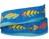 "School of Fish in waves- Zecca - 7/8"" -by the yard"