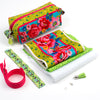 Kit Zipper Pouch Velvet Roses on Ditsy Green
