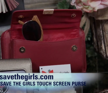 Save the Girls Touch Screen Purses was featured on Dawn's Corner