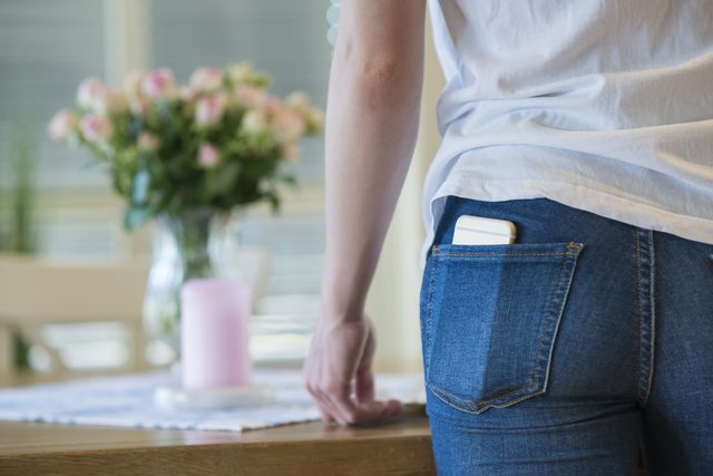 You never have to stick your phone in your bra or those tight pockets in skinny jeans!