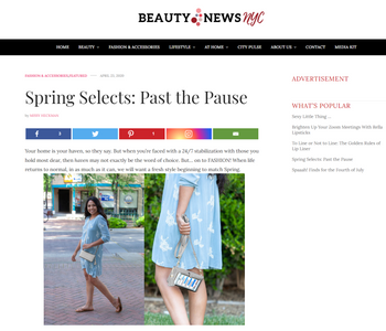 Beauty News NYC Features STG