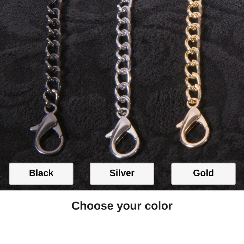 Chains (All purses come with an adjustable strap, chains are optional addition)