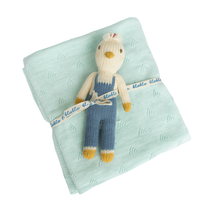 Benedict Rattle & Mint Blanket Bundle