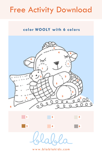 Color with Wooly Activity Download
