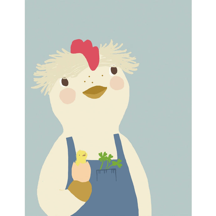 Benedict the Chicken Art Print