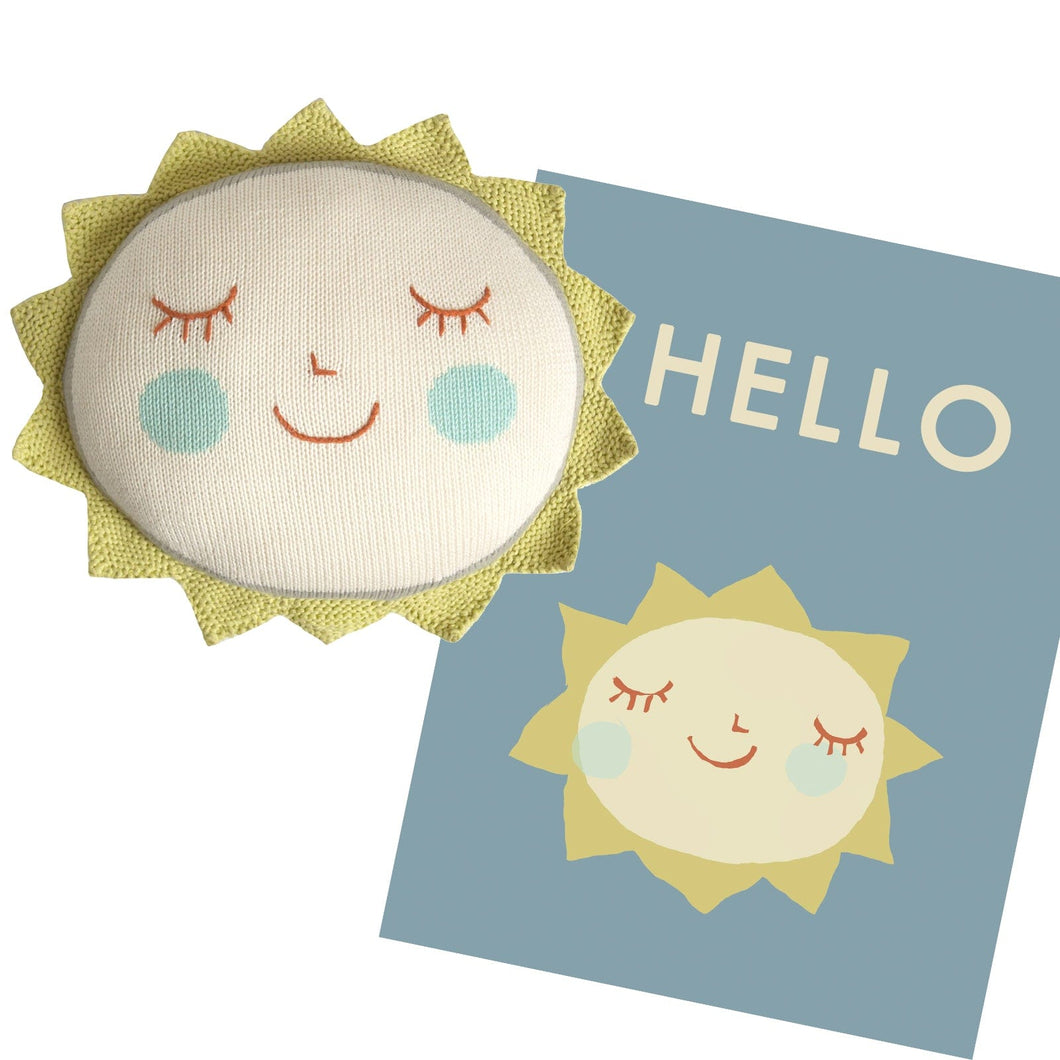 Sun Pillow and Hello Print Bundle