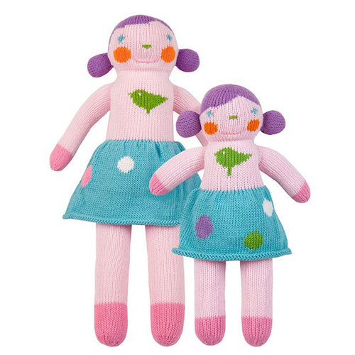 100 doll girl med violet - blabla kids doll