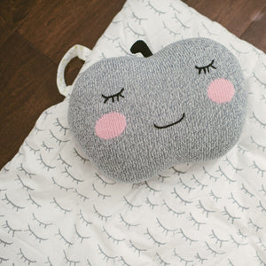 Apple Pillow Grey