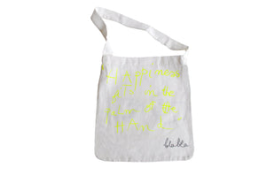 Tote Bag - Neon Yellow Star