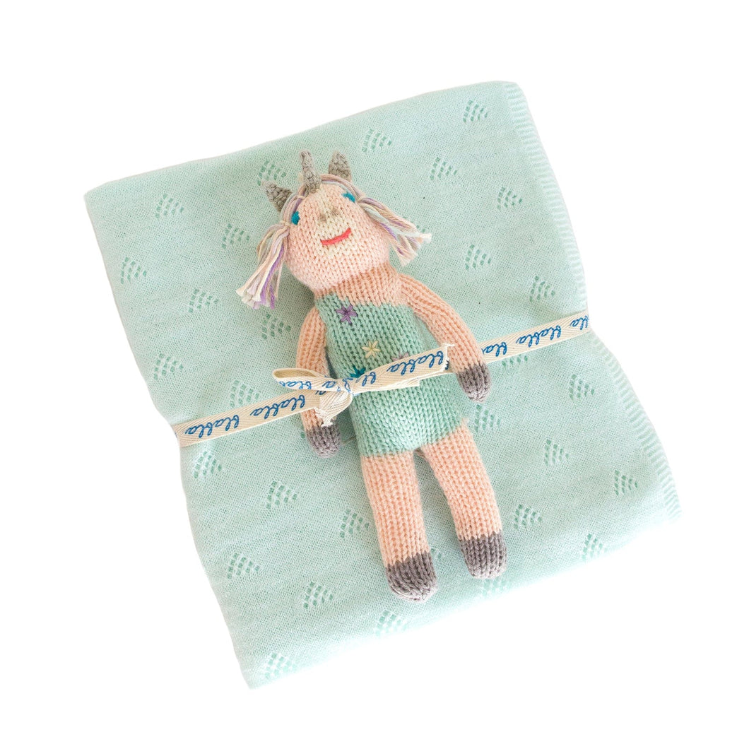 Confetti Rattle & Mint Blanket Bundle