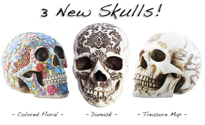 3 New Skulls Available Now!