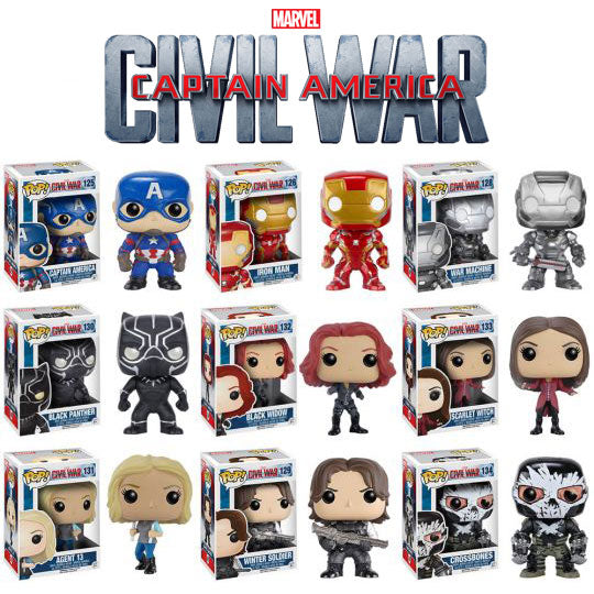NEW Captain America: Civil War POPS!