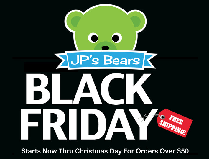 Black Friday Shipping Sale at JP's Bears!