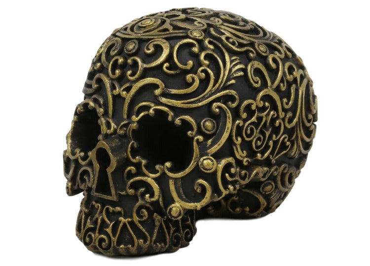 Black and Gold Skull