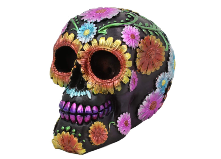 Day of the Dead Skull - Small Metallic Colored