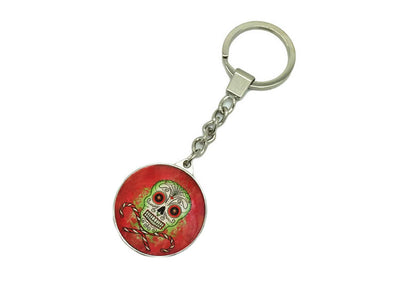 Day of the Dead Skull Keychain 1 - Jps Bears