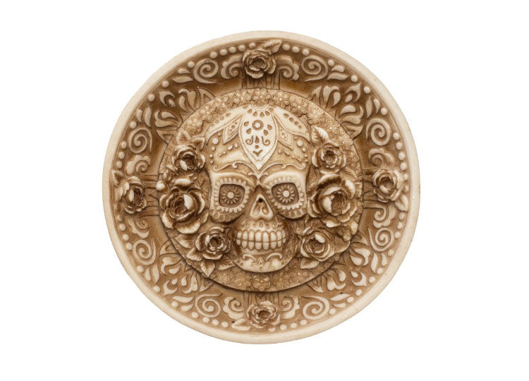 Day of the Dead Round Incense Burner - Jps Bears