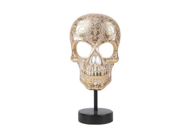 Gold Skull with Base - Jps Bears