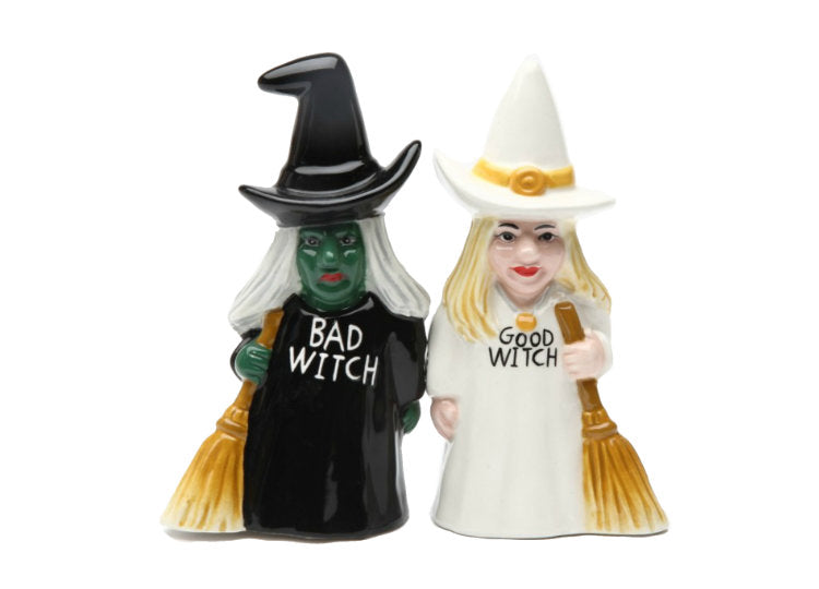 Good Witch Bad Witch Salt and Pepper Shakers