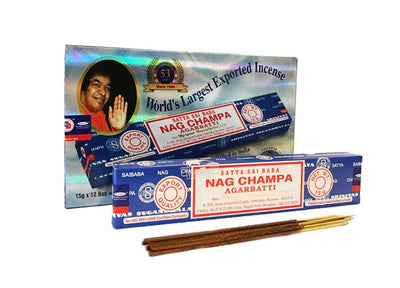 Satya Nag Champa Incense – 180 Gram Box (x12 packs per box) - Jps Bears