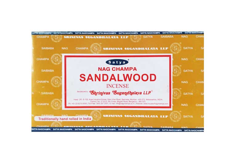 Satya Sandalwood Incense – 180 Gram Box (x12 packs per box)
