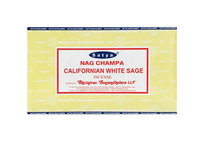 Satya California White Sage Incense – 180 Gram Box (x12 packs per box) - Jps Bears
