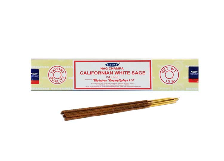 Satya California White Sage Incense – 15 Gram Pack