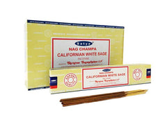 Satya California White Sage Incense – 180 Gram Box (x12 packs per box)