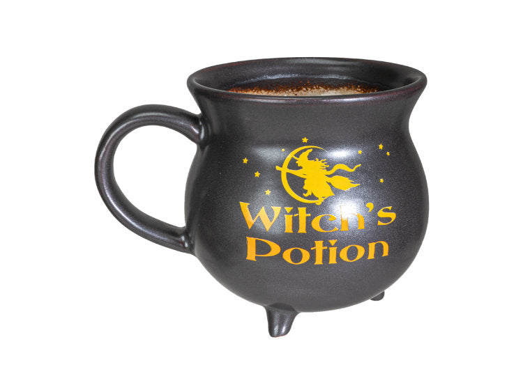 Witch's Potion Cauldron Mug and Wooden Spoon Set