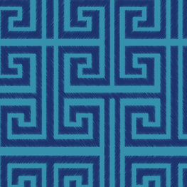 Greek Key (Electric Indigo)