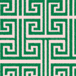 Greek Key (Rose Emerald)