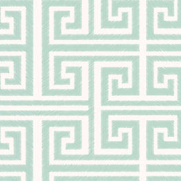 Greek Key (White Aqua)