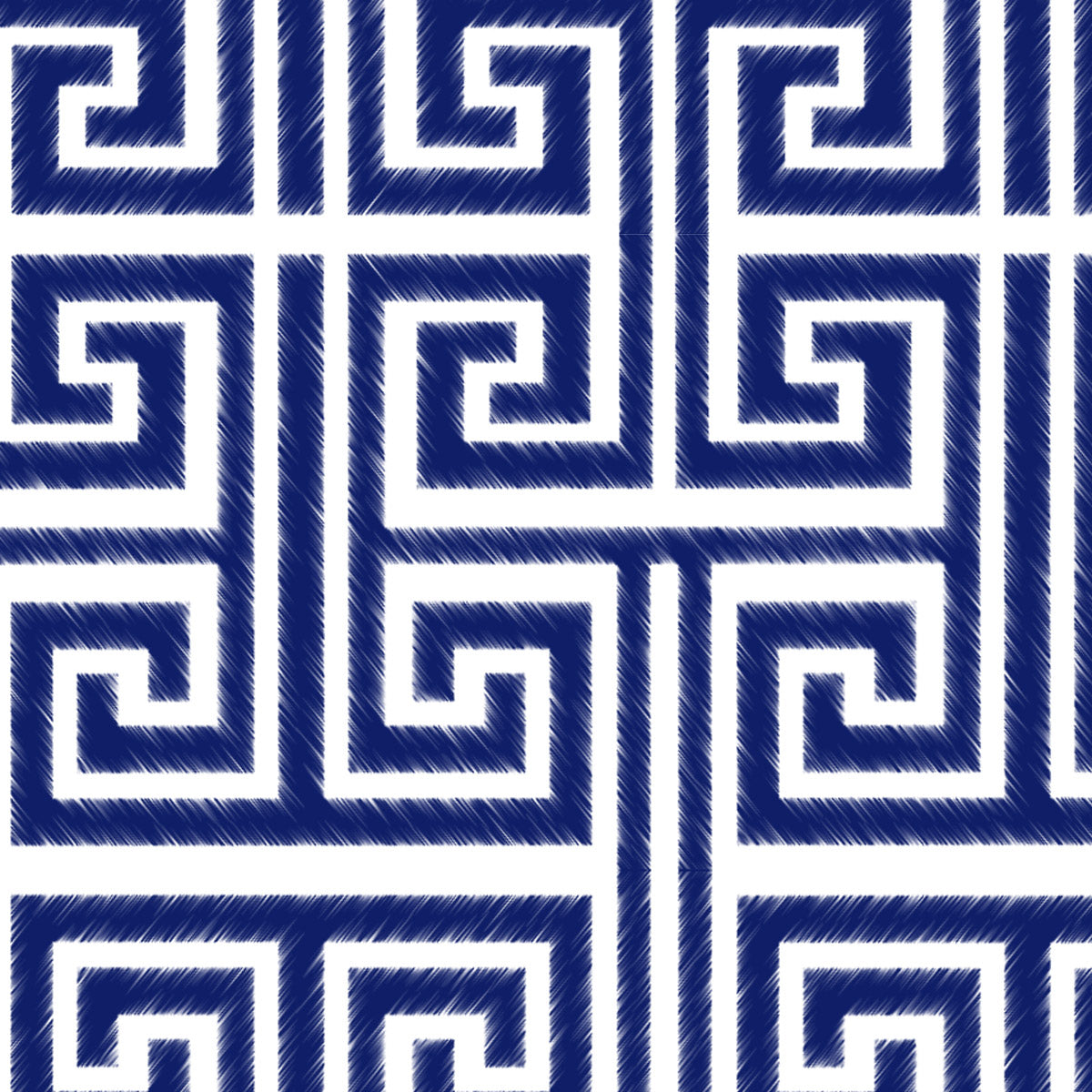 Greek Key (White Navy)