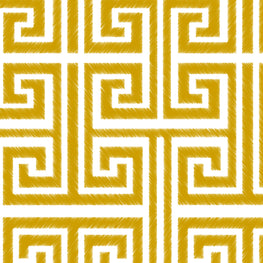 Greek Key (White Saffron)