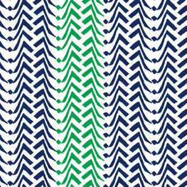 Large Chevron (Emerald Blue)
