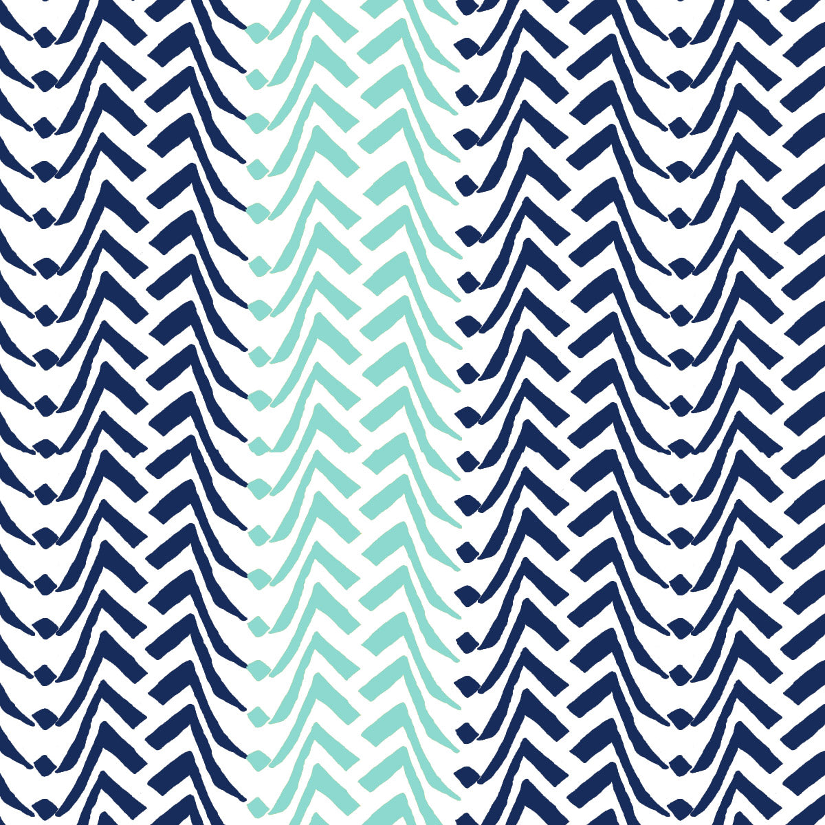 Large Chevron (Cyan Navy)