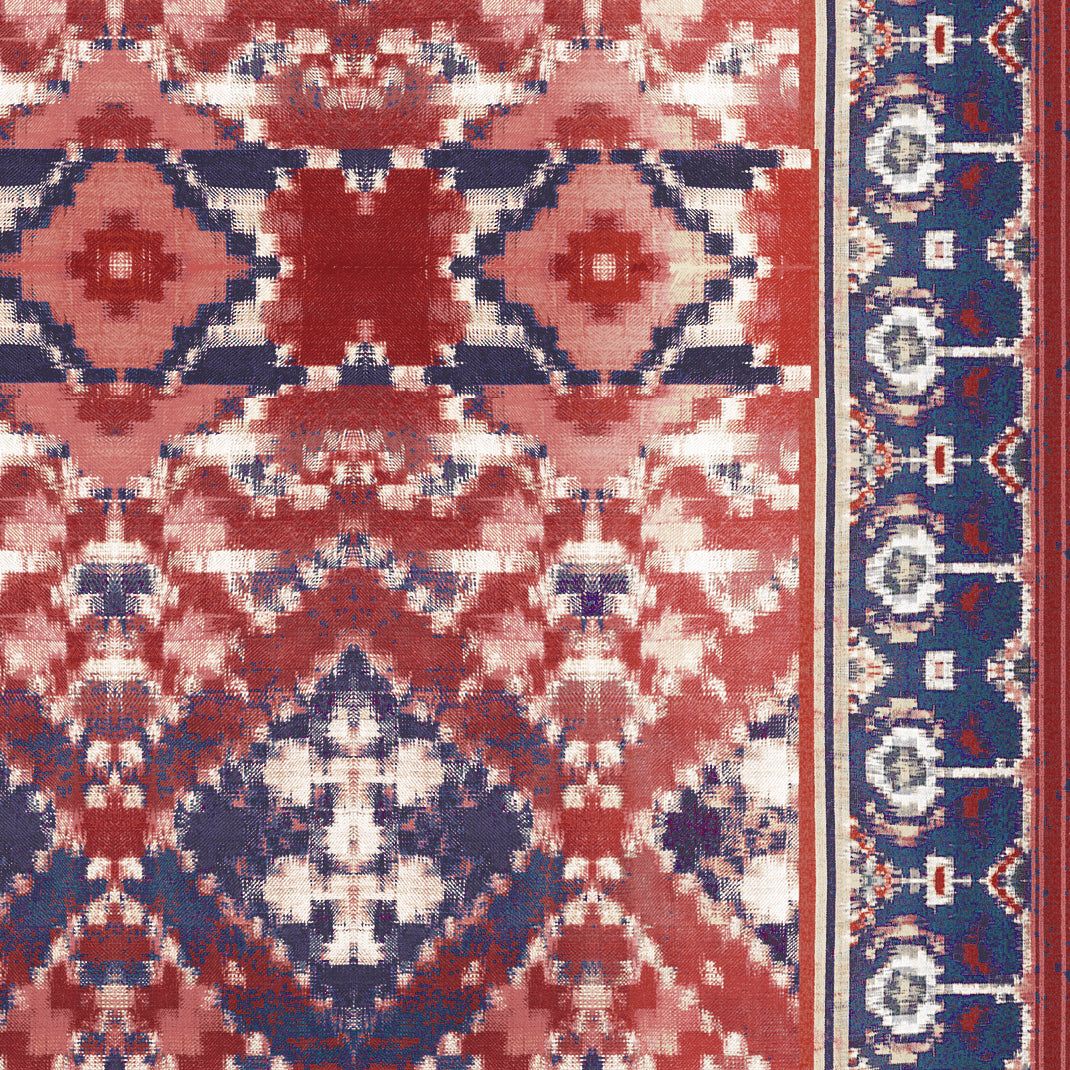 Ladder Ikat (Crimson Midnight)