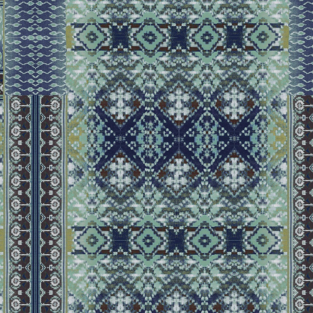 Ladder Ikat (Midnight Blue)