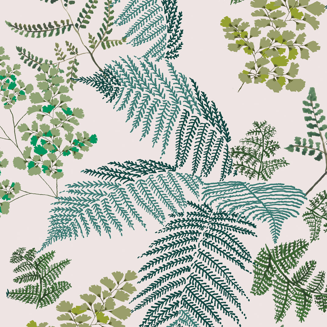 Lace Ferns Spring Green Wallpaper (10m Roll)